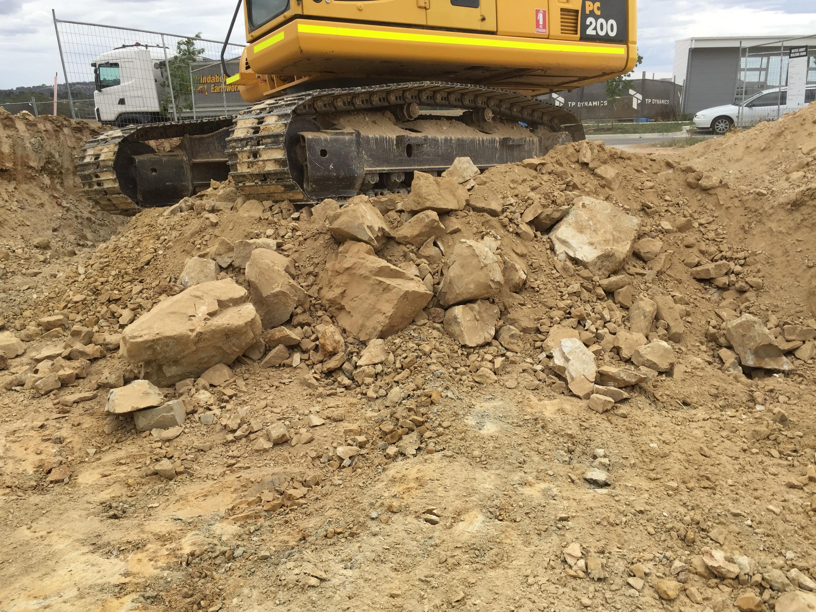 Rocks we excavate out