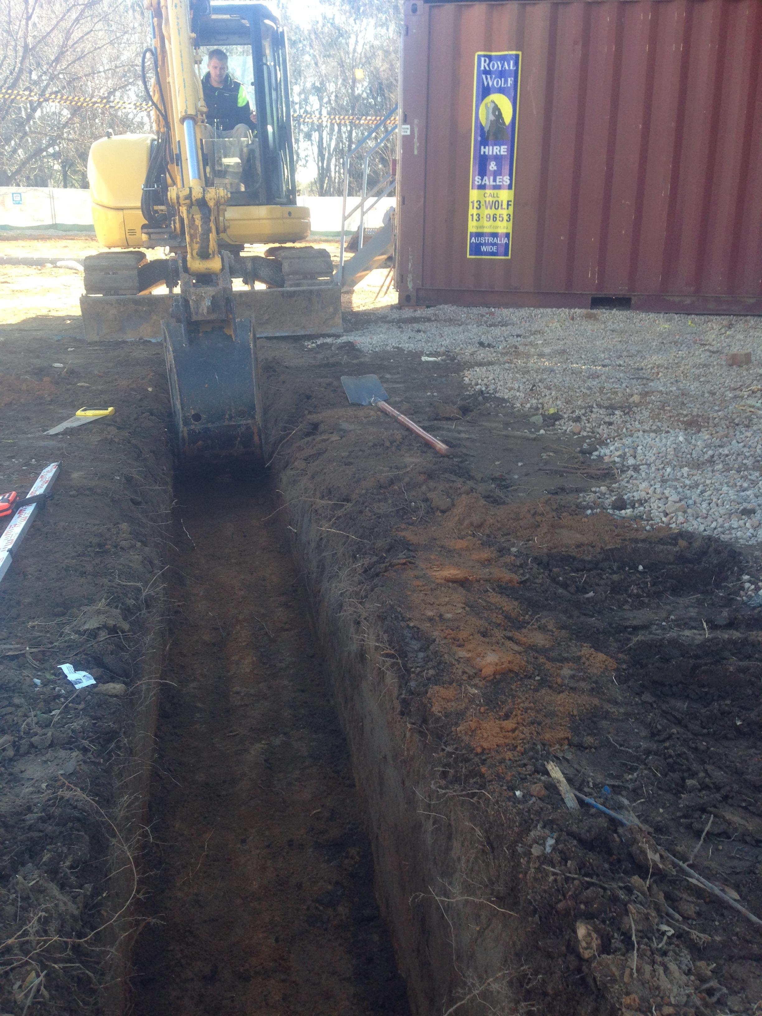 Laser checked trench depth