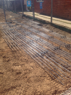 Mesh ready for trench