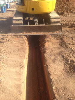 Detailed trench for inspection