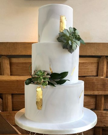 Cake Gold Marble Wedding Planner Cotswolds