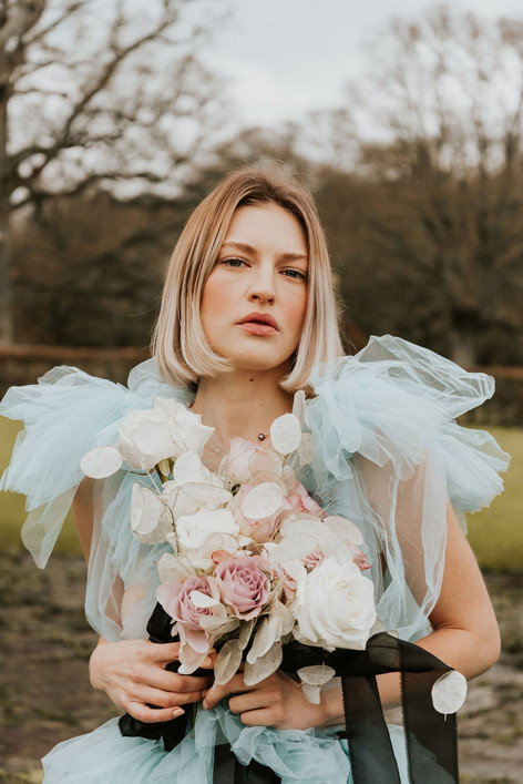 5-Blue-Dress-Bouquet-Boho-Modern-Gothic-