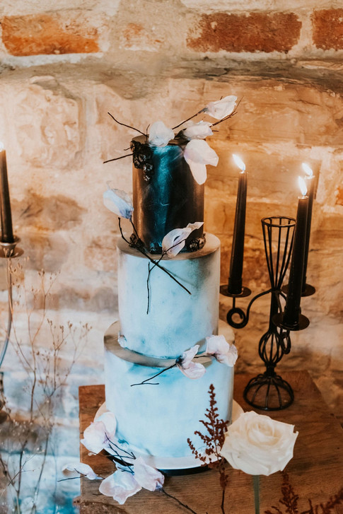 43-Black-Cake-Boho-Modern-Gothic-Wedding