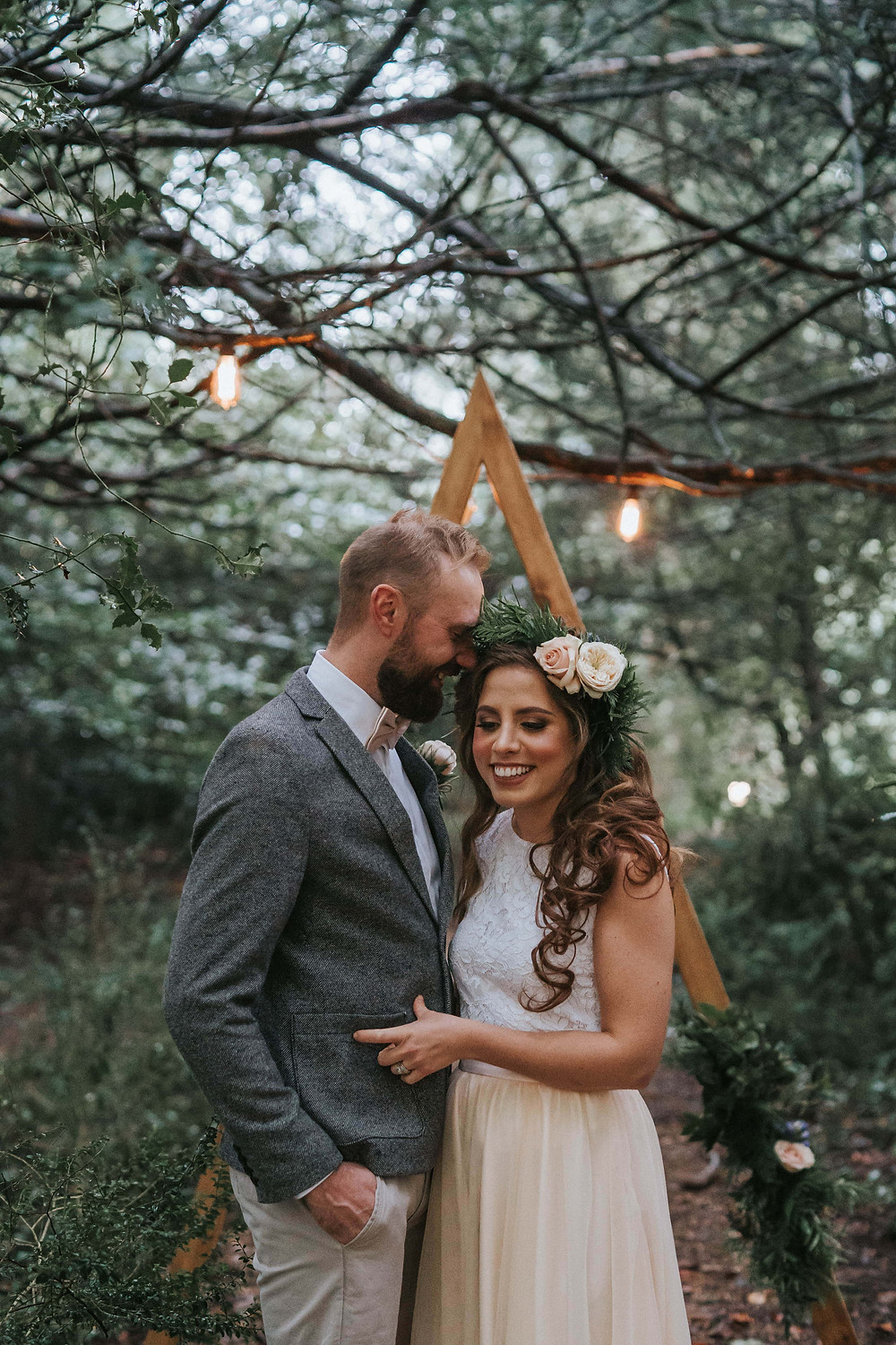 Bride-Groom-Wedding-Woodland-UK-Cotswolds
