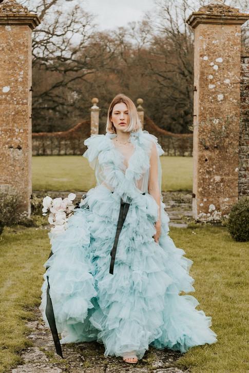 6-Blue-Bride-Boho-Modern-Gothic-Wedding-