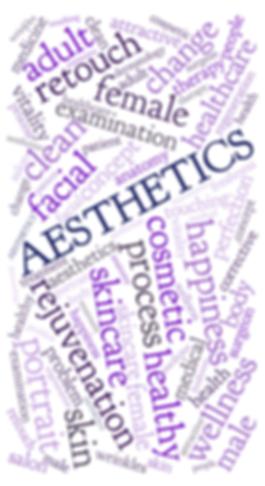 Aesthetic wordcloud