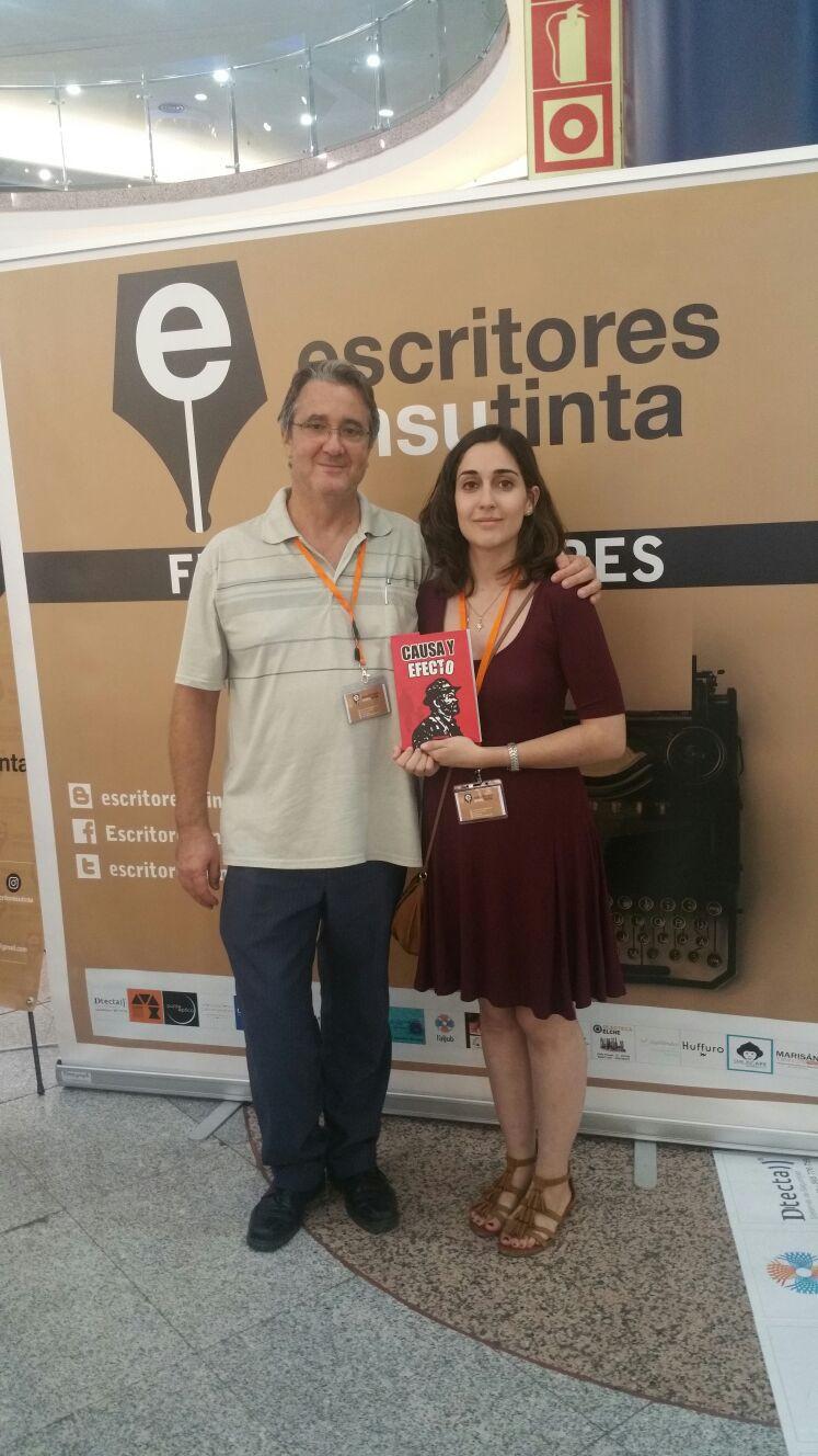Con el autor, José Salieto