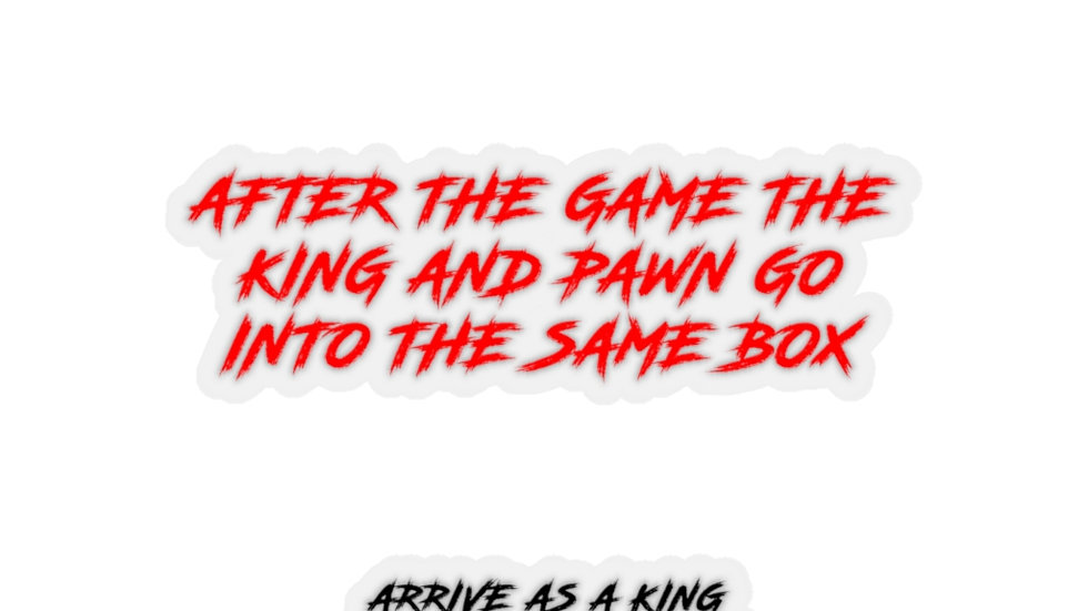 KING SZN THE KING IS COMING STICKER