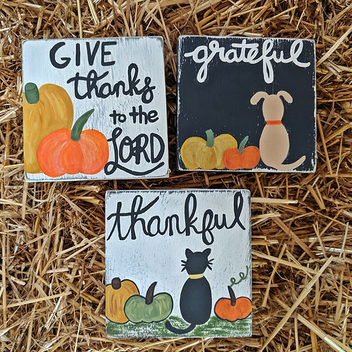 Fall Wood Signs, Wood Signs, Fall Decor, Fall Signs, Fall Home Decor, Fall Decorations, Fall Crafts, Thankful, Grateful