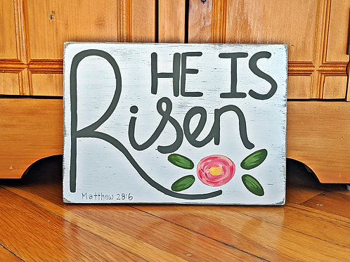 He is Risen Wood Sign, Bible Verse Signs, Scripture Signs, Wood Sign, Easter Signs, Christian Easter Sign, He is Risen, Signs