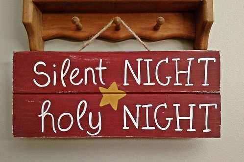 Silent Night Wood Sign, Silent Night Song, Christmas Sign, Wood Christmas Sign, Holiday Decor, Christmas Carol Sign