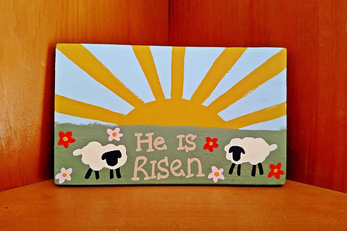 Wood Scripture Sign, Christian Easter Signs, Resurrection Sunday Signs, He is Risen, He is risen Wood Sign, Matthew 28:6