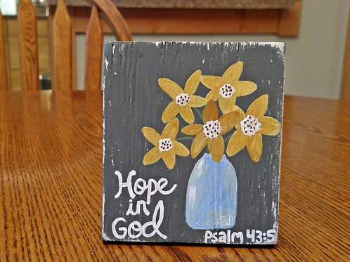 Wood Scripture Sign, BIble Verse on Wood, Bible Verse Wood Sign, Hope in God, Psalm 43:5, Why are you Downcast Oh My Soul