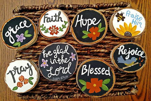 Wood Scripture Magnets, Assorted Verses