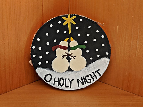 Oh Holy Night Sign, O Holy Night Sign, Christmas Decor, Christmas Song Signs, Christmas Lyrics Sign, Small Wood Sign, Holiday