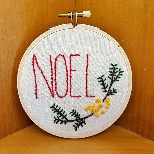 Embroidered Sign, Noel