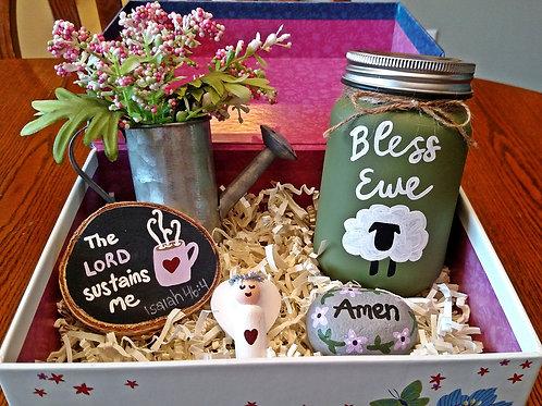 Elderly Gift Basket, Box of Blessings, Senior Gift Idea, Christian Gift Box