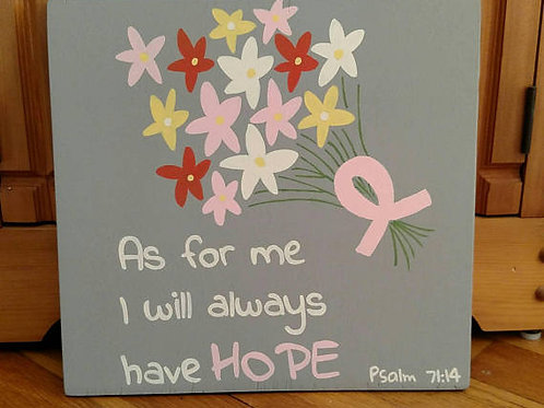 Wood Signs, Scripture Verse Sign, Bible Verse Sign, Home Decor, Wood Signs with Scripture, Cancer Gift, Ribbon Awareness