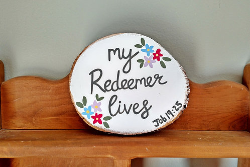 Wood Scripture Signs, Bible Verse Signs, My Redeemer Lives Sign, Easter Signs, Resurrection Sunday Signs, Christian Easter