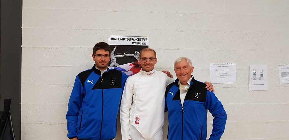 Maitre Cyril Besnard, Christophe Ladrange et Michel Dubois