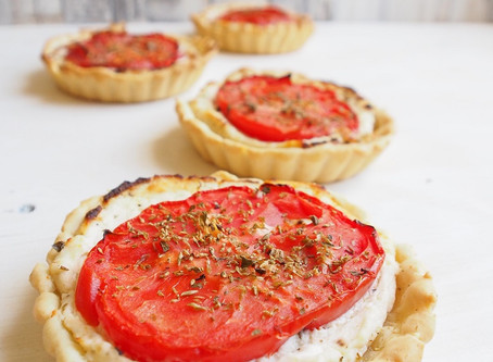 Tartellette ricotta e pomodorini