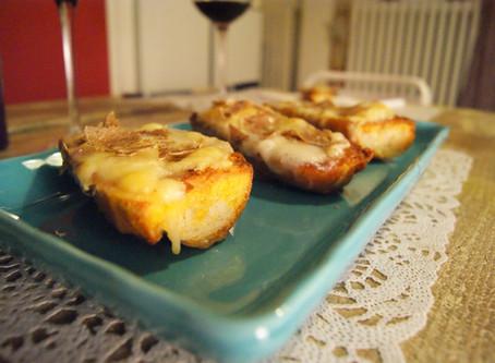 French toast salato caciocavallo e tartufo