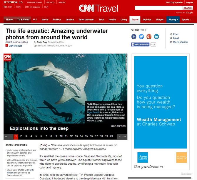 """The life aquatic"" published on CNN.com"