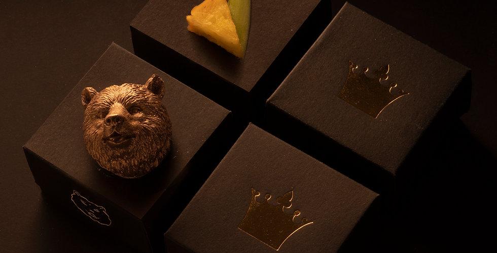 oso grizzly dorado - choc leche