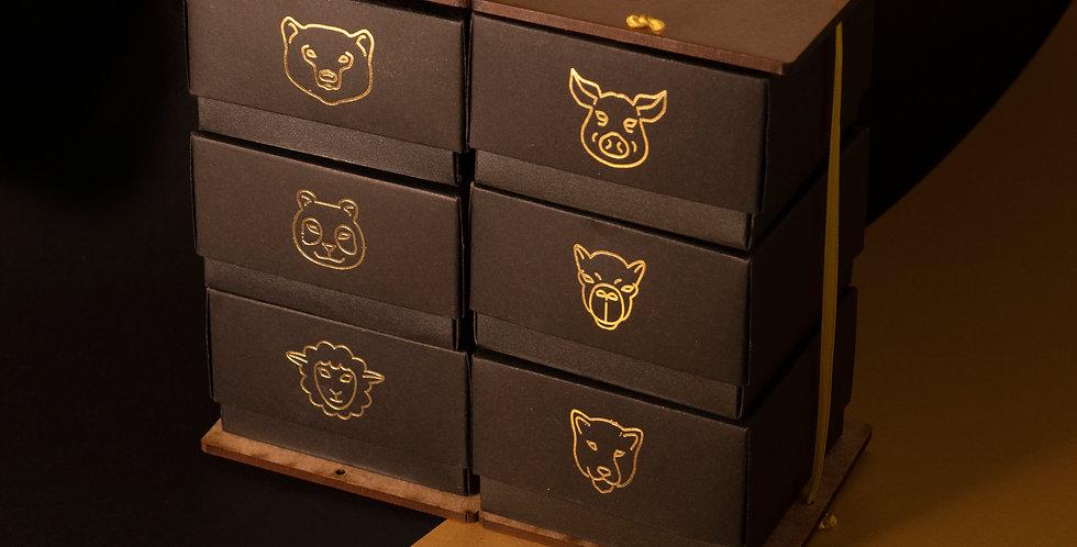 pack de 6 unidades dorado