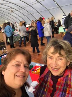 Barbara and Betsy tabling at local Farmer's Market