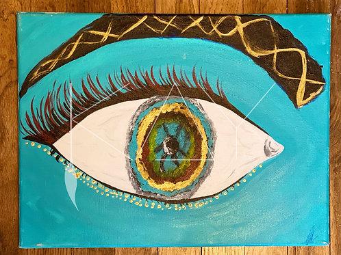 Blue Gold eye