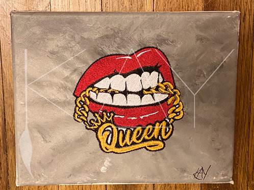 Queen Embroidered Lips