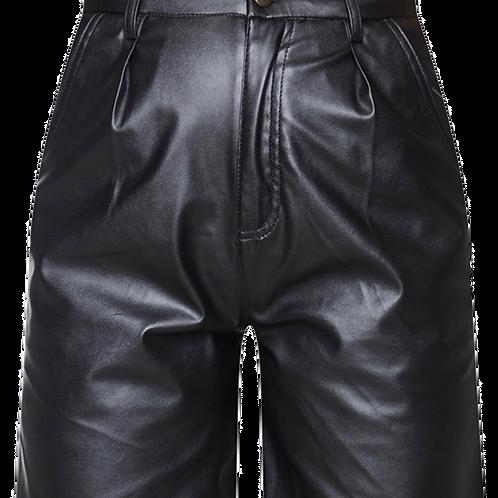 Faux Leather Long Line Shorts