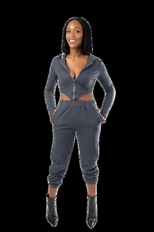 Grey Track Suit Set