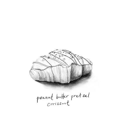 Peanut Butter Pretzel Croissant