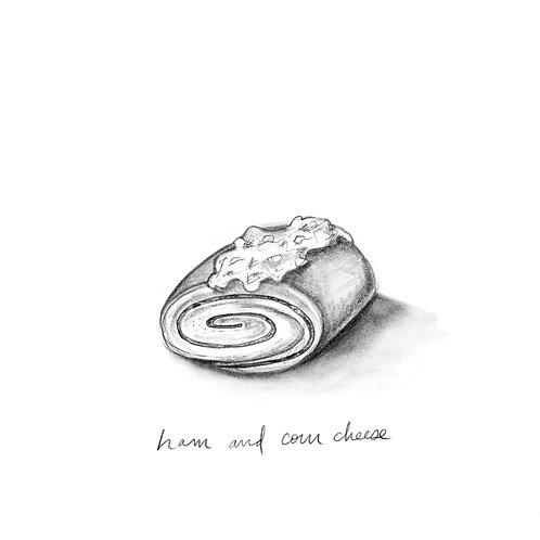 Ham and Corn Cheese Bread
