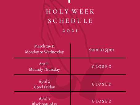 Keep Safe and be blessed this HOLY WEEK!