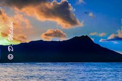 Sunset Over Diamond Head - Oahu H