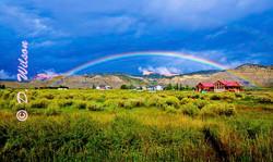 Rainbow Over the Farm - Utah