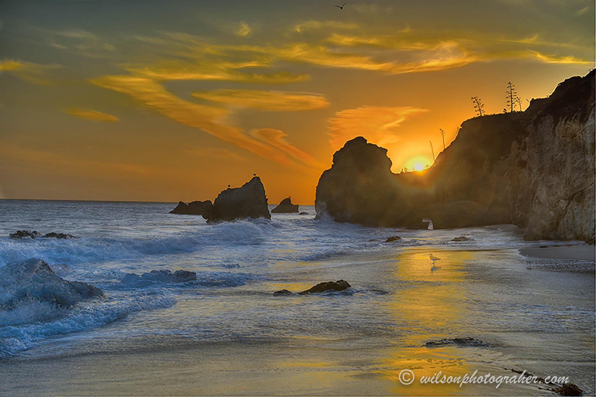 Golden Hour - Malibu Beach, Ca