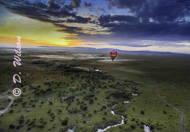 Sunrise Over the Serengeti, Africa