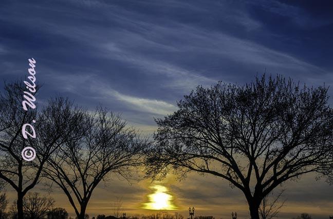 Sun Setting Over Washington D.C.