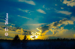 Yellowstone Nat'l Park Sunset - Wy