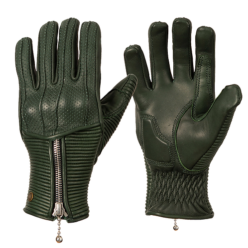 Ladies Silk Lined Raptor Gloves - Racing Green