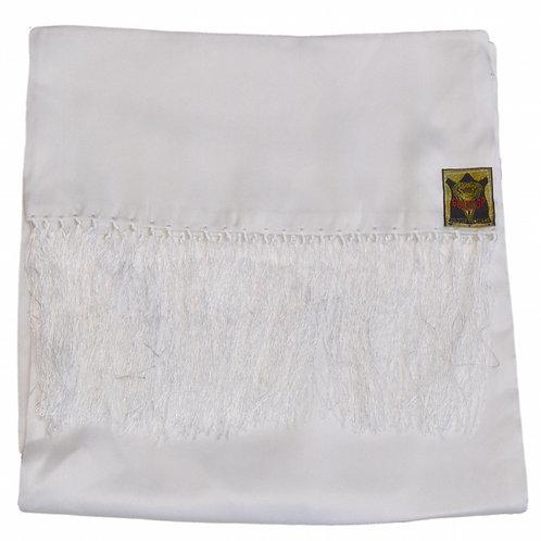 100% Silk Old English White Scarf