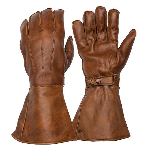 Fleece Lined Gauntlet - Waxed Brown