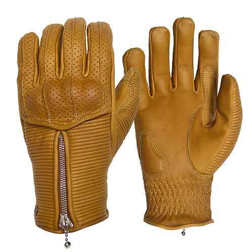 The Silk Lined Raptor Gloves - Sand