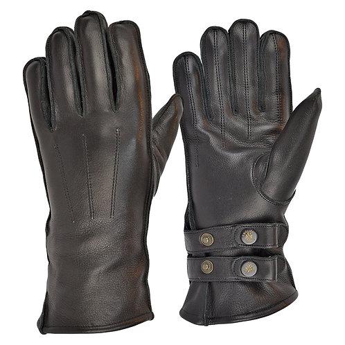 Twin Strap Fleece Lined Cafe Race Gloves