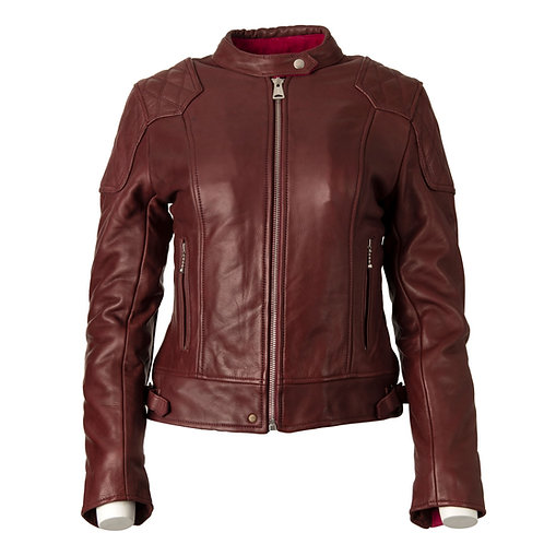 Ladies '76 Cafe Racer Jacket - Burgundy