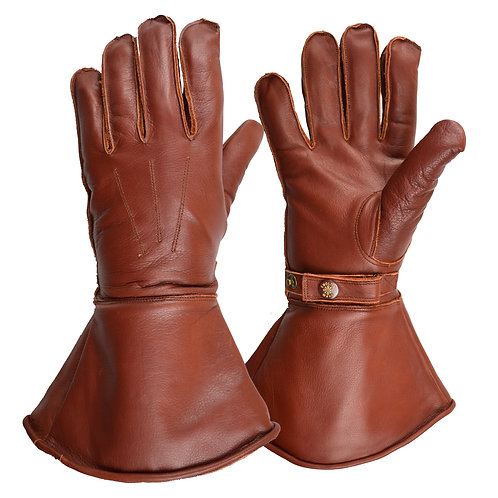 Fleece Lined Gauntlet - Brown